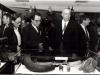 1982 Exposition au foyer des PTT à  Montparnasse - de gauche à droite  Françine Collet et François Aron (Cabinet du ministre des PTT) et François Bernardini (Pdt du Club National)