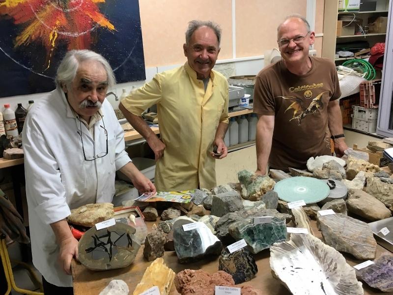 Michel, Jean et Daniel prêts pour la Fête des Assoc.