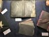 """L'Association Artistique présente des reliures  incrustées de """"Listel de Pierres"""" : c'est bien de la pierre, une feuille découpée au laser à partir d'un gros bloc. Elle fait entre 0,3 mm et 0,6 mm d'épaisseur"""