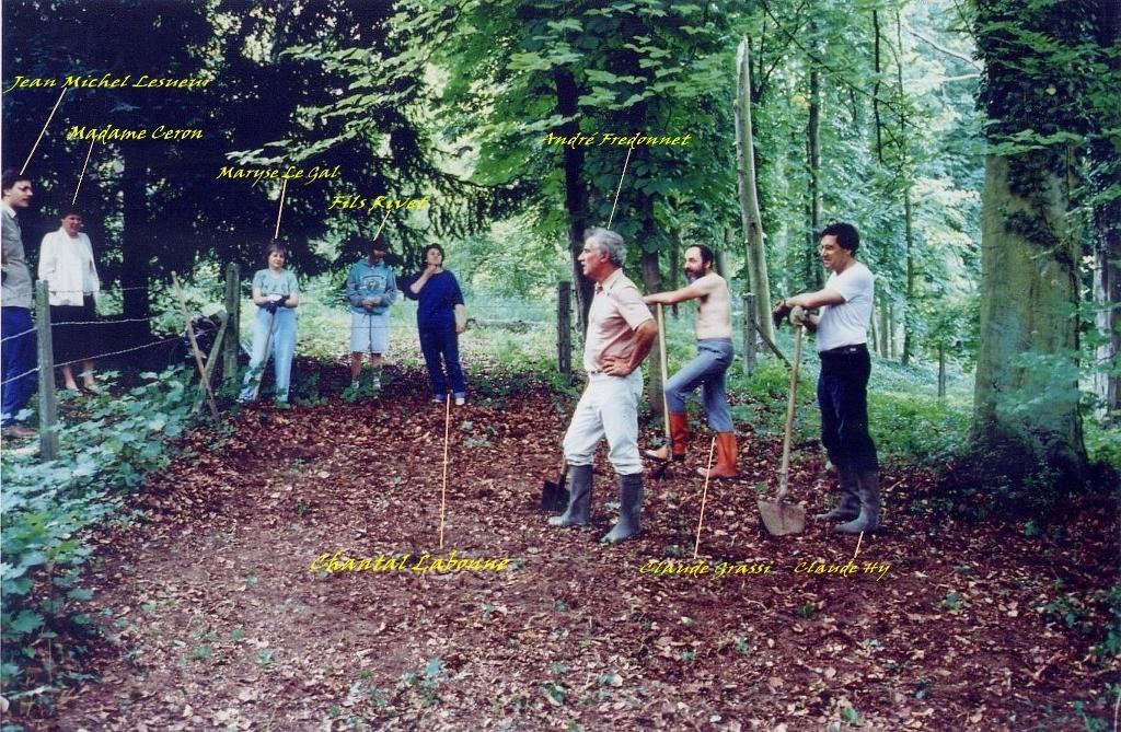 06- Identification des participants (dont Claude Grassi qui a obtenu l'autorisation de prospecter à Grignon)