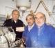 A. BRY et G. SOULIE avaient assuré la prise en charge du fonctionnement de l'atelier, à sa création. En blouse bleue, de g à d, Michel et Georges  ont pris leur succession. A gauche JC Debenne, spécialiste en Préhistoire. Janvier 2004