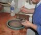 Michel - polissage d'une agate - mars 2001