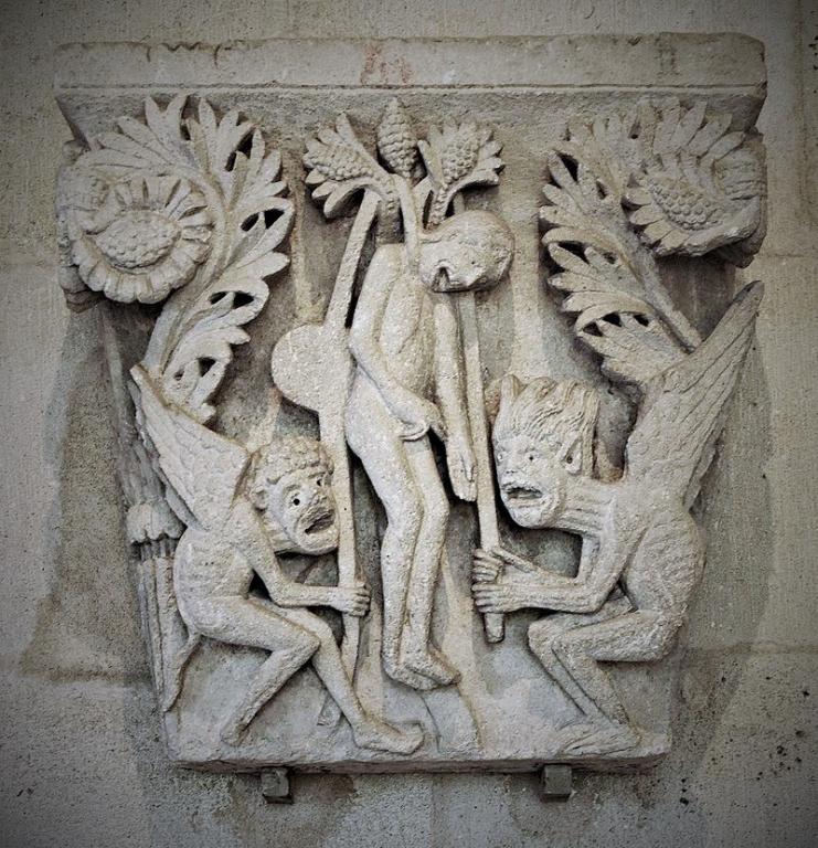 Le suicide de Judas - Salle capitulaire - Cathédrale St Lazare