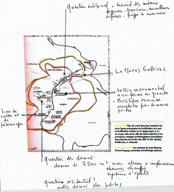 Plan de Bibracte - A.Meunier