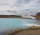15- Hverir, un lac d'un joli bleu inciterait à la baignade si ce n'est l'eau bouillante et l'acide sulfurique qu'elle contient