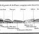 Extrait de l'esquisse d'une carte géologique du Bassin de Paris et de quelques contrées voisines par JJ d'Omalius d'Halloy - Première représentation des roches sédimentaires qui sont disposées en auréoles concentriques et empilées les unes sur les autres comme des « assiettes » - Annales des Mines 1816