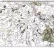 """""""Carte minéralogique des environs de Fontainebleau, Estampes, et Dourdan"""", feuille n°55, extraite de """"l'Atlas minéralogique de la France"""" par Jean-Etienne Guettard (1767). Les coupes apparaissant dans les marges latérales sont de la main de Lavoisier. Mines Paristech"""