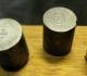 Étapes de la gravure d'une matrice: surfaçage, gravure du centre + grenetis, puis de la légende extérieure et du grenetis à la périphérie