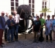 Notre petite équipe devant l'entrée du Museum d'Histoire Naturelle de La Rochelle