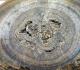 Le centre de l'entérolithe, de moindre consistance que la périphérie