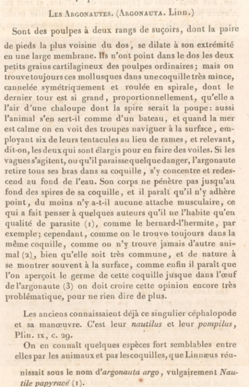 "Cuvier ""Règne animal"" iconographie (1817)"