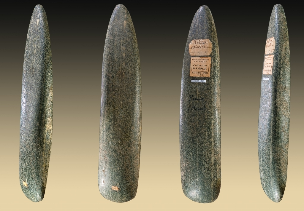 Haches polies en diorite - Reims (51) - Collection Damour