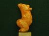 """Statuette féminine dite """"La Vénus de Sireuil"""", taillée dans un bloc de calcite translucide, découverte en 1900 par M. Prat, sur la commune de Sireuil (Dordogne) - 27000 BP - H= 90 mm"""