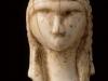 """Tête Féminine dite """"Dame de Bassemprouy"""" ou """"Dame à la Capuche"""", en ivoire de mammouth, découverte en 1894 par Edouard Piette dans les grottes de Brassempouy (Landes) - Gravettien 24000 BP - H= 40 mm - photo Musée des Antiquités Nationales"""