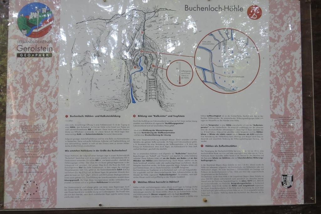 JJ_Dolomites de Gerolstein, Buchenloch-Höhle, panneau