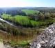 Vue panoramique depuis l'esplanade du chateau de Mailly