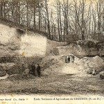 La falunière de Grignon - carte postale ancienne