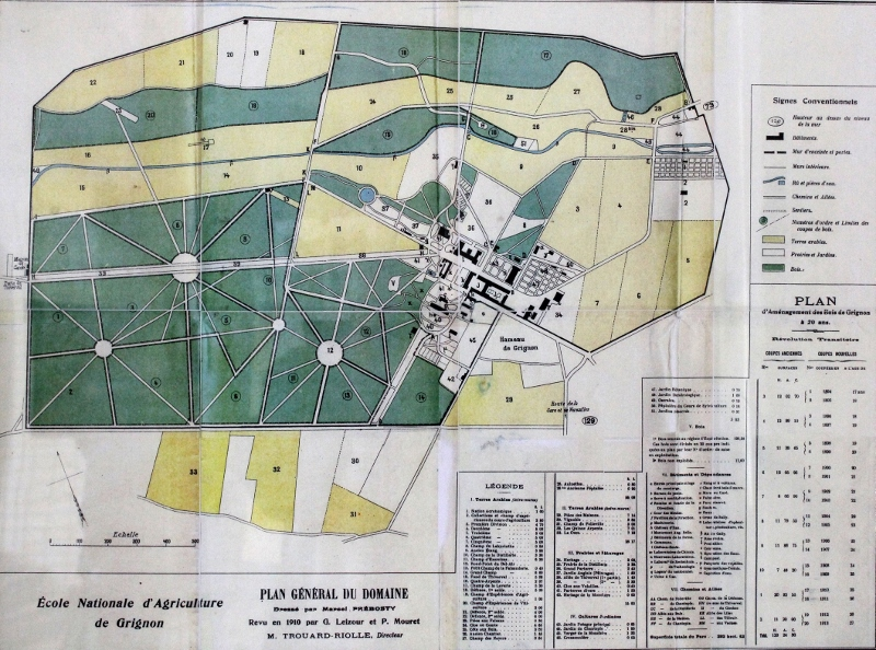 Plan general du domaine de Grignon1910 . Photo Jean Michel Pournin