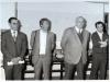 Au centre G, Michel Ridet, 1er Président du Club Géologique National, Directeur Budget et Comptabilité de La Poste- A sa droite François Bernardini co-fondateur du Club Géologique des PTT en 1976 avec Michel Ridet.