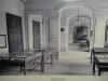 Exposition consacrée à la falunière de Grignon dans le vestibule du château. Vraisemblablement vers 1900.