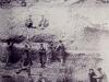 """01- Carte postale ancienne de la falunière de Grignon : les """"coquillards"""""""
