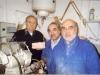 En blouse bleue, de g à d, Michel et Georges  ont pris leur succession. A gauche JC Debenne, spécialiste en Préhistoire. Janvier 2004