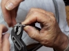 Serrage du flexible du percuteur pour réparation