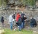 Affleurement de schistes bitumineux à St Léger du bois.