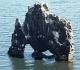 23- Un étrange reste de basalte buriné par les éléments, à Hvitserkur, au nord-est de l'île