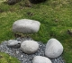 26- Hellissandur,, quelques-unes des pierres  (23, 54, 100 et 154 kg) que soulèvent les costauds du coin dans les concours de force folkloriques