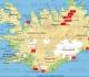 Carte d\'Islande avec localisation des prises de vue - crédit Géoatlas, Graphi-ogre