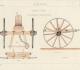 Avant train de charrue jurassienne. Dessin effectué en 1899 par un élève de l'Institut agronomique de Grignon. Site internet du Conservatoire de l'agriculture - Chartres (28)