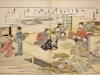 Jeu avec coquillages - Utamaro fin 18ème - Musée Guimet