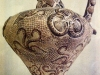 Vase minoen - décor d'Argonaute et coquillages - 3500 BP