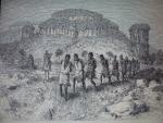 Une colonne d\'esclaves en Afrique noire - dessin d\'Émile Bayard (1860) - Musée de la Compagnie des Indes in Wikipedia